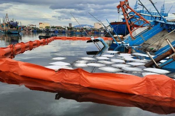 Đà Nẵng: Xử lý sự cố tràn dầu do tàu chìm tại Âu thuyền cảng cá Thọ Quang