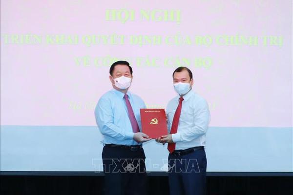Trao quyết định của Bộ Chính trị bổ nhiệm Phó Trưởng ban Tuyên giáo Trung ương