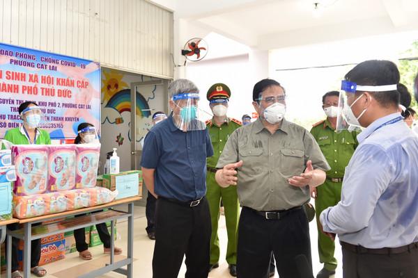 Thủ tướng Phạm Minh Chính kiểm tra công tác chống dịch tại TPHCM