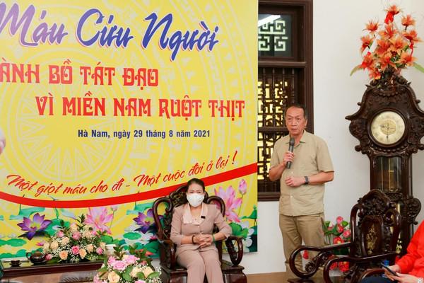 Phòng chống Covid-19: Tăng ni, Phật tử Hà Nam hiến máu vì miền Nam ruột thịt