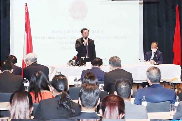 """""""Cuộc tiếp xúc cử tri đặc biệt"""" của Chủ tịch Quốc hội Vương Đình Huệ"""