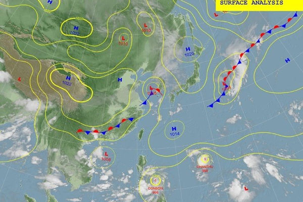 Siêu bão Chanthu tăng cấp nhanh chóng đổ bộ Trung Quốc