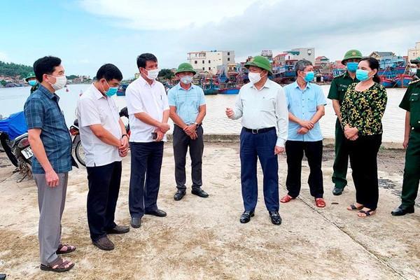 Lãnh đạo tỉnh Thanh Hóa kiểm tra công tác phòng chống bão ở các huyện