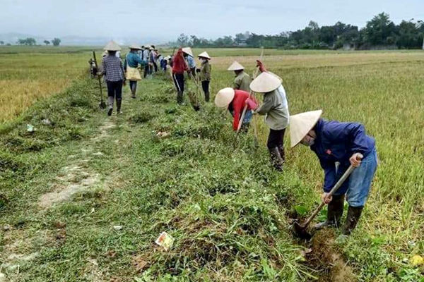 Phụ nữ Điện Biên chung tay bảo vệ môi trường xây dựng nông thôn mới