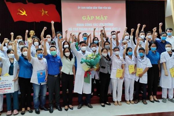 Yên Bái tiếp tục cử 40 thầy thuốc hỗ trợ TP.HCM chống dịch COVID-19