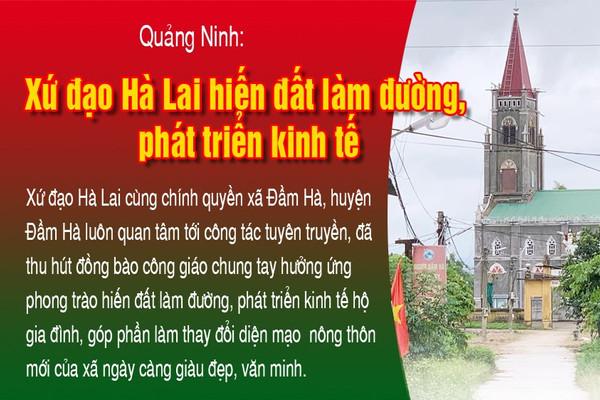 Inforgraphic: Xứ đạo Hà Lai hiến đất làm đường, phát triển kinh tế