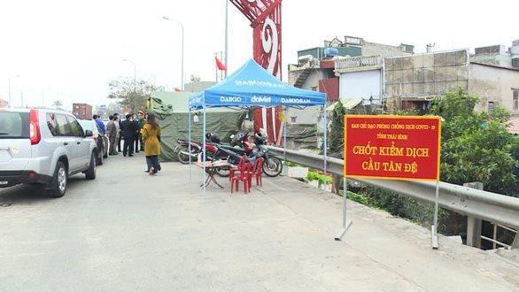 Thái Bình: Dỡ bỏ 8 chốt kiểm soát người ra vào tỉnh