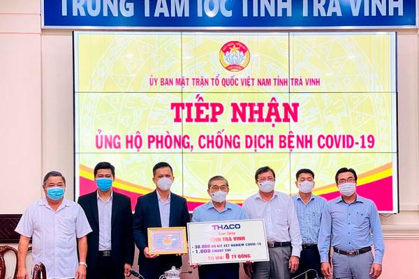 THACO trao tặng giáo dục Trà Vinh 1.000 smart tivi dùng cho việc dạy và học trực tuyến