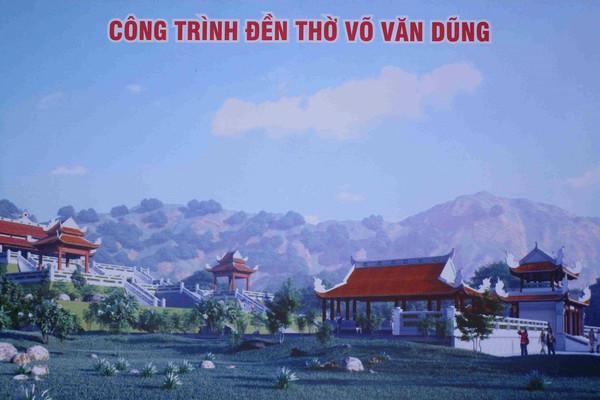 Bình Định: Khởi công xây dựng Đền thờ Đại tư đồ Võ Văn Dũng