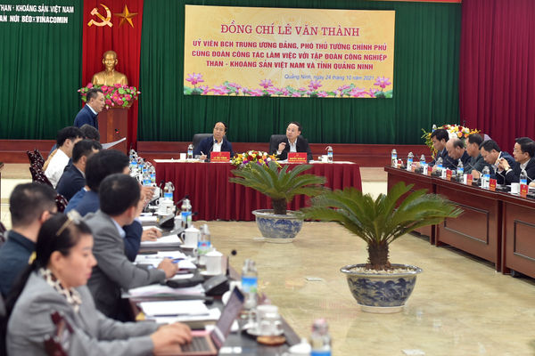 Phó Thủ tướng Lê Văn Thành ủng hộ các kiến nghị tạo thuận lợi để ngành than phát triển